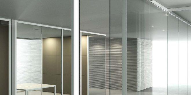 Pareti in vetro, per un ambiente elegante e di design